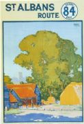Vintage London underground poster - St. Albans route